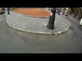Езда на скутере в трафике
